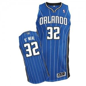 Maillot NBA Bleu royal Shaquille O'Neal #32 Orlando Magic Road Authentic Homme Adidas