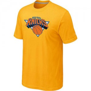 T-Shirts NBA New York Knicks Big & Tall Jaune - Homme