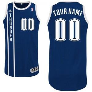 Maillot NBA Authentic Personnalisé Oklahoma City Thunder Alternate Bleu marin - Homme