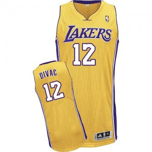 Maillot Adidas Or Home Authentic Los Angeles Lakers - Vlade Divac #12 - Homme