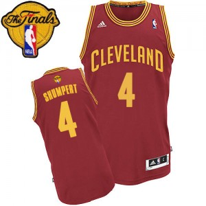 Maillot Swingman Cleveland Cavaliers NBA Road 2015 The Finals Patch Vin Rouge - #4 Iman Shumpert - Homme