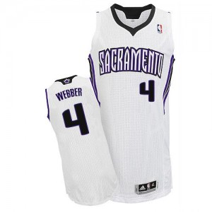 Sacramento Kings Chris Webber #4 Home Authentic Maillot d'équipe de NBA - Blanc pour Homme