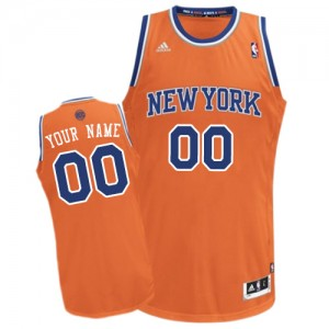 New York Knicks Swingman Personnalisé Alternate Maillot d'équipe de NBA - Orange pour Enfants