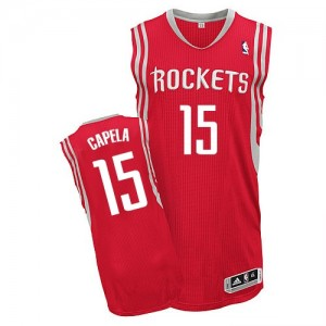 Maillot Authentic Houston Rockets NBA Road Rouge - #15 Clint Capela - Homme