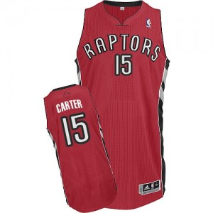 Maillot NBA Authentic Vince Carter #15 Toronto Raptors Road Rouge - Homme