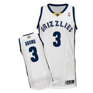 Memphis Grizzlies Jordan Adams #3 Home Authentic Maillot d'équipe de NBA - Blanc pour Homme