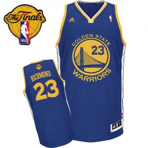Maillot Adidas Bleu royal Road 2015 The Finals Patch Swingman Golden State Warriors - Mitch Richmond #23 - Homme