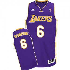 Maillot Swingman Los Angeles Lakers NBA Road Violet - #6 Jordan Clarkson - Homme