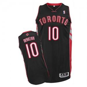 Maillot Adidas Noir Alternate Authentic Toronto Raptors - DeMar DeRozan #10 - Homme