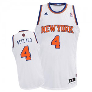 Maillot NBA Swingman Arron Afflalo #4 New York Knicks Home Blanc - Homme