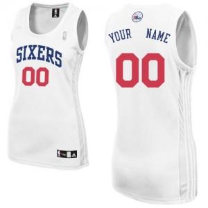 Maillot NBA Philadelphia 76ers Personnalisé Authentic Blanc Adidas Home - Femme