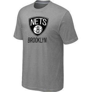 Brooklyn Nets Big & Tall Gris T-Shirts d'équipe de NBA la meilleure qualité - pour Homme