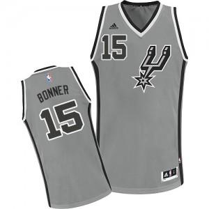 Maillot NBA Gris argenté Matt Bonner #15 San Antonio Spurs Alternate Swingman Homme Adidas