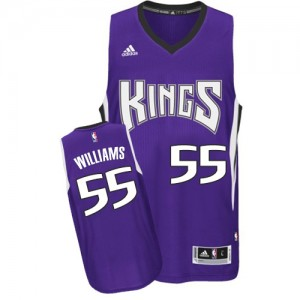 Maillot NBA Swingman Jason Williams #55 Sacramento Kings Road Violet - Homme