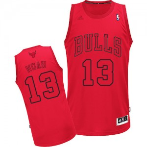 Maillot Adidas Rouge Big Color Fashion Swingman Chicago Bulls - Joakim Noah #13 - Homme