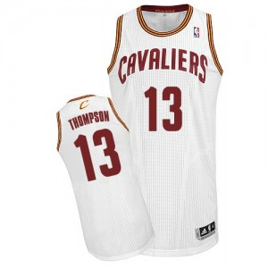 Maillot NBA Blanc Tristan Thompson #13 Cleveland Cavaliers Home Authentic Homme Adidas