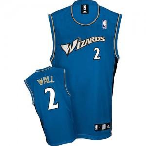 Washington Wizards #2 Adidas Bleu Authentic Maillot d'équipe de NBA préférentiel - John Wall pour Homme
