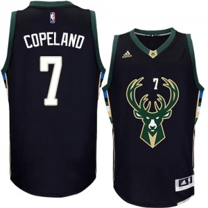 Maillot NBA Authentic Chris Copeland #7 Milwaukee Bucks Alternate Noir - Homme