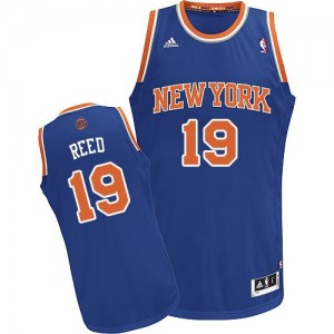 Maillot Adidas Bleu royal Road Swingman New York Knicks - Willis Reed #19 - Homme