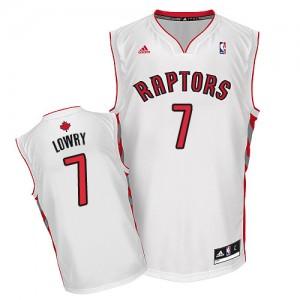 Toronto Raptors Kyle Lowry #7 Home Swingman Maillot d'équipe de NBA - Blanc pour Homme