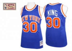 Maillot NBA Authentic Bernard King #30 New York Knicks Throwback Bleu royal - Homme