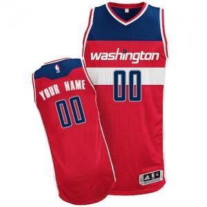 Washington Wizards Personnalisé Adidas Road Rouge Maillot d'équipe de NBA pas cher - Authentic pour Femme