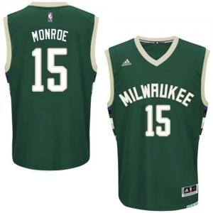 Maillot NBA Swingman Greg Monroe #15 Milwaukee Bucks Road Vert - Homme