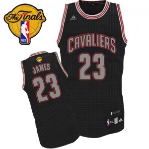 Maillot Adidas Noir Rhythm Fashion 2015 The Finals Patch Authentic Cleveland Cavaliers - LeBron James #23 - Homme