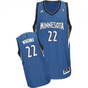 Maillot Swingman Minnesota Timberwolves NBA Road Slate Blue - #22 Andrew Wiggins - Homme