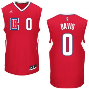Maillot NBA Los Angeles Clippers #0 Glen Davis Rouge Adidas Authentic Road - Homme