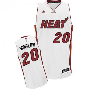 Maillot Swingman Miami Heat NBA Home Blanc - #20 Justise Winslow - Homme