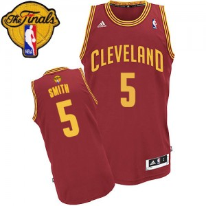 Maillot Swingman Cleveland Cavaliers NBA Road 2015 The Finals Patch Vin Rouge - #5 J.R. Smith - Homme