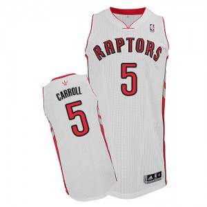 Maillot Adidas Blanc Home Authentic Toronto Raptors - DeMarre Carroll #5 - Homme