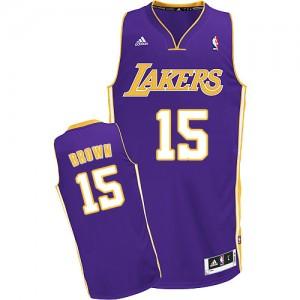 Los Angeles Lakers #15 Adidas Road Violet Swingman Maillot d'équipe de NBA pas cher - Jabari Brown pour Homme