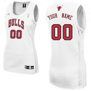 Maillot NBA Swingman Personnalisé Chicago Bulls Home Blanc - Femme