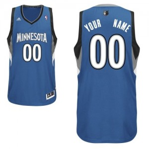 Maillot Adidas Slate Blue Road Minnesota Timberwolves - Swingman Personnalisé - Homme