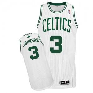 Boston Celtics Dennis Johnson #3 Home Authentic Maillot d'équipe de NBA - Blanc pour Homme