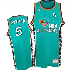 Maillot Authentic Washington Wizards NBA 1996 All Star Throwback Bleu clair - #5 Juwan Howard - Homme