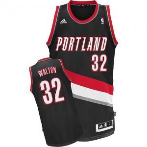 Maillot Swingman Portland Trail Blazers NBA Road Noir - #32 Bill Walton - Homme