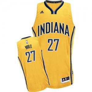 Indiana Pacers #27 Adidas Alternate Or Swingman Maillot d'équipe de NBA la vente - Jordan Hill pour Homme