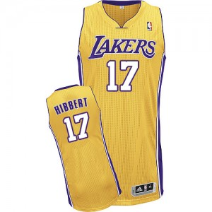 Maillot Authentic Los Angeles Lakers NBA Home Or - #17 Roy Hibbert - Homme