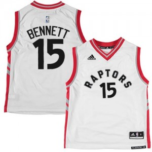 Maillot Authentic Toronto Raptors NBA Blanc - #15 Anthony Bennett - Homme