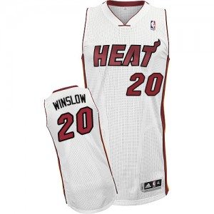 Maillot Authentic Miami Heat NBA Home Blanc - #20 Justise Winslow - Homme