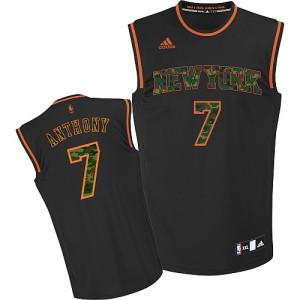 Maillot NBA New York Knicks #7 Carmelo Anthony Camo noir Adidas Swingman Fashion - Homme