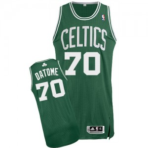 Maillot NBA Authentic Gigi Datome #70 Boston Celtics Road Vert (No Blanc) - Homme