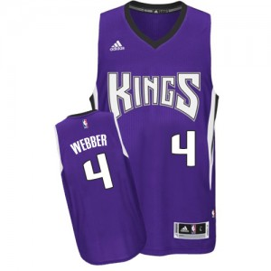 Maillot NBA Swingman Chris Webber #4 Sacramento Kings Road Violet - Homme