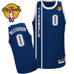 Maillot Swingman Oklahoma City Thunder NBA Alternate Finals Patch Bleu marin - #0 Russell Westbrook - Homme