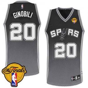 Maillot NBA Authentic Manu Ginobili #20 San Antonio Spurs Resonate Fashion Finals Patch Noir - Homme