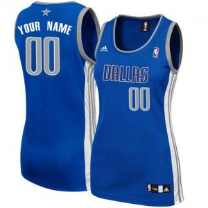 Maillot NBA Dallas Mavericks Personnalisé Swingman Bleu marin Adidas Alternate - Femme