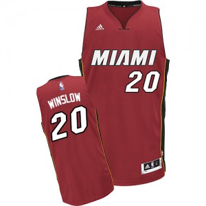 Maillot Swingman Miami Heat NBA Alternate Rouge - #20 Justise Winslow - Homme